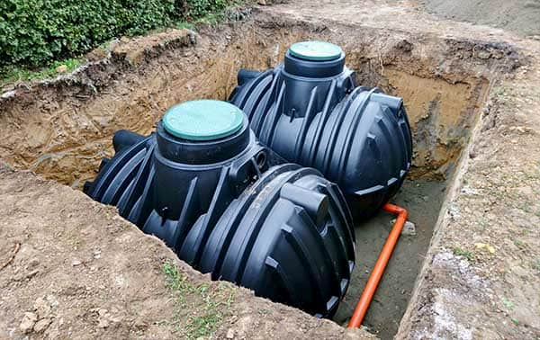 septic tanks under the ground